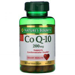 Nature's Bounty, Коэнзим Q-10, экстра сила, Q-Sorb, 200 мг, 80 гелевых капсул