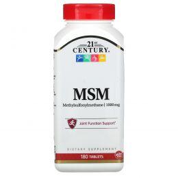 21st Century, МСМ-1000, (Метилсульфонилметан), 180 таблеток