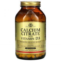 Solgar, Solgar, Цитрат кальция с витамином D3, 240 таблеток