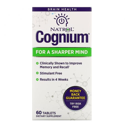 Natrol, Когниум, 60 таблеток