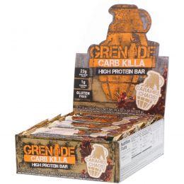 Grenade, Carb Killa Bar, Caramel Chaos, 12-2.12 oz bars , Net Wt 25.44 oz