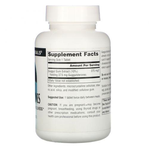 Source Naturals, Гуггулстероны, 37,5 мг, 120 таблеток