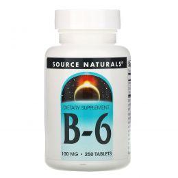 Source Naturals, B-6, 100 мг, 250 таблеток