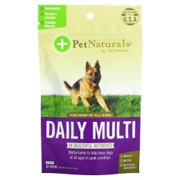 Pet Naturals of Vermont, Ежедневный мультивитамин, для собак, 30 жевательных таблеток, 3,70 унции (105 г)