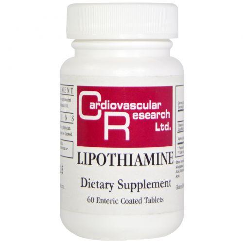 Cardiovascular Research Ltd., Липотиамин, 60 таблеток в кишечно-растворимой оболочке