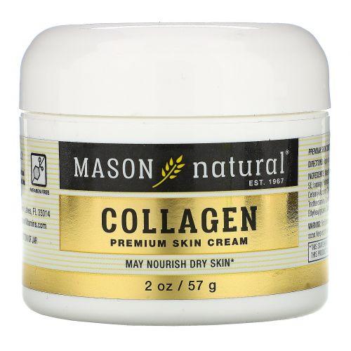 Mason Naturals, Coconut Oil Beauty Cream + Collagen Beauty Cream, 2 Jars, 2 oz (57 g) Each