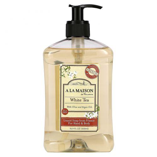 A La Maison de Provence, Жидкое мыло для рук и тела, Белый чай, 16.9 ж.унций (500 мл)