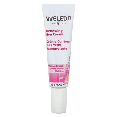 Weleda, Восстанавливающий крем для кожи вокруг глаз, экстракты шиповника, для всех типов кожи, 0,34 ж. унц. (10 мл)