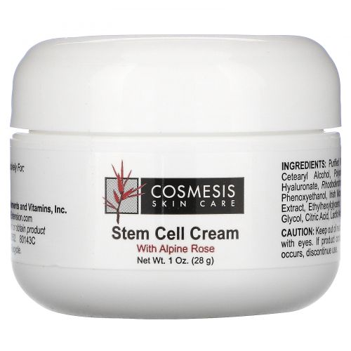 Life Extension, Cosmesis Skin Care, Stem Cell Cream, with Alphine Rose, 1 oz (28 g)