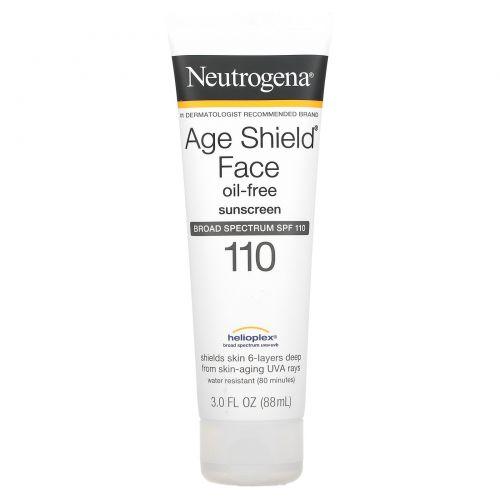 Neutrogena, Age Shield для лица, солнцезащитный крем без масла, SPF 110, 3 жидкие унции (88 мл)