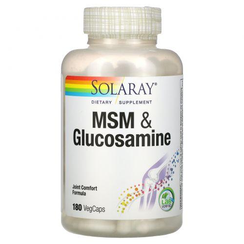Solaray, MSM & Glucosamine , 180 VegCaps