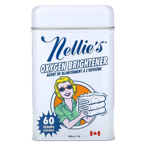 Nellie's All-Natural, Отбеливающий порошок с кислородом, 2 фунта (900 г)