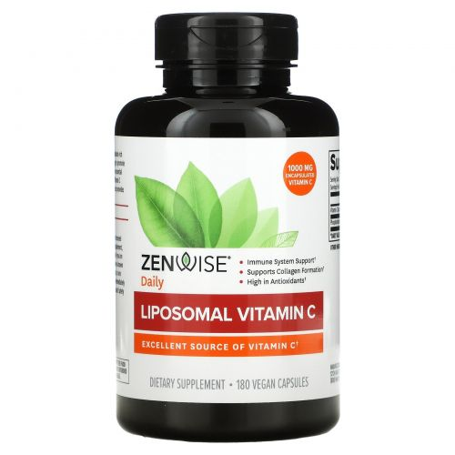 Zenwise Health, Липосомный витамин C с Quali-C, 180 вегетарианских капсул