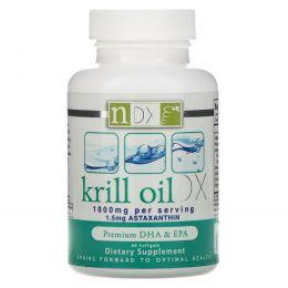 Natural Dynamix, Масло криля DX, 1000 мг, 60 мягких капсул