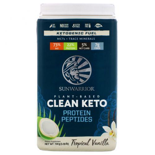 Sunwarrior, Plant-Based Clean Keto, Tropical Vanilla, 1.59 lb (720 g)