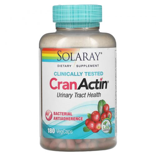 Solaray, CranActin, Urinary Tract Health, 180 VegCaps