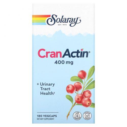Solaray, CranActin, здоровье мочевыводящих путей, 180 капсул с растительной оболочкой