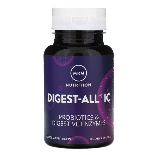 MRM, Digest-All IC, средство для пищеварения, 60 вегетарианских капсул