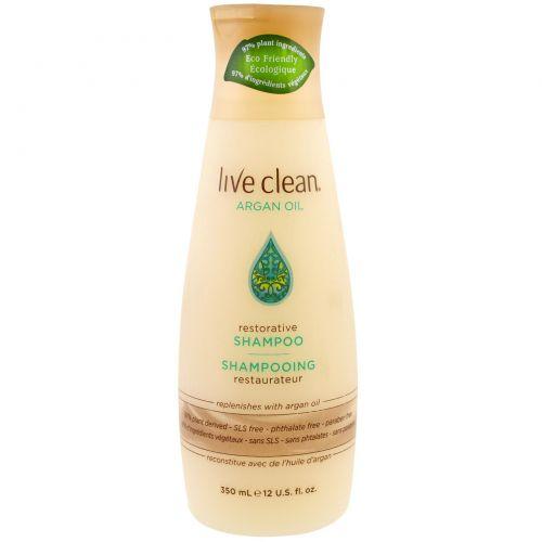Live Clean, Restorative Shampoo, Argan Oil, 12 fl oz (350 ml)