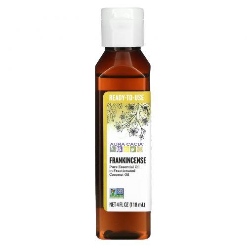 Aura Cacia, Pure Essential Oil, Frankincense, 4 fl oz (118 ml)