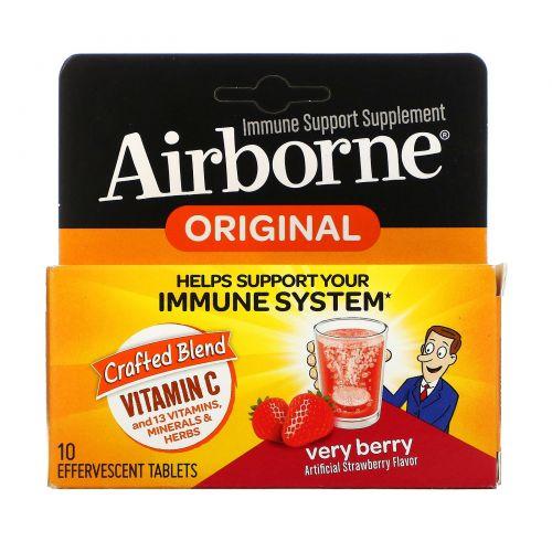AirBorne, Шипучие таблетки, очень ягодные, 10 таблеток
