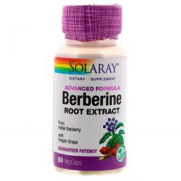 Solaray, Экстракт с берберином, продвинутая формула, 60 вегетарианских капсул