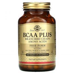 Solgar, BCAA Plus, в свободной форме, 100 растительных капсул