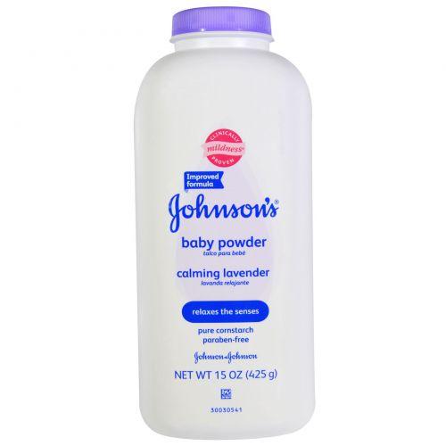 Johnson's Baby, Детская присыпка, успокаивающая лаванда, 425 г (15 унций)