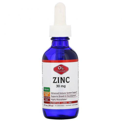 Olympian Labs, Zinc, 30 mg,  2 fl oz (59 ml)