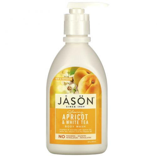 Jason Natural, Средство для мытья тела, яркий абрикос, 30 жидких унций (887 мл)