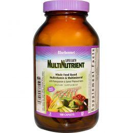 Bluebonnet Nutrition, Мультинутриент Super Earth, без железа, 180 каплет