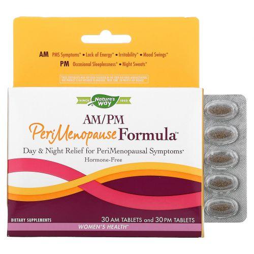 Nature's Way, Формула для пременопаузы, AM/PM, 60 таблеток