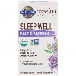 Garden of Life, MyKind Organics, Sleep Well Rest & Refresh, 30 Vegan Tablets