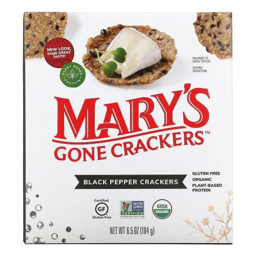 Mary's Gone Crackers, Органические крекеры с черным перцем, 6,5 унций (184 г)