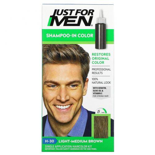 Just for Men, Мужская краска для волос Original Formula, оттенок светло-коричневый H-30, одноразовый комплект