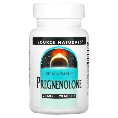 Source Naturals, Прегненолон, 25 мг, 120 таблеток