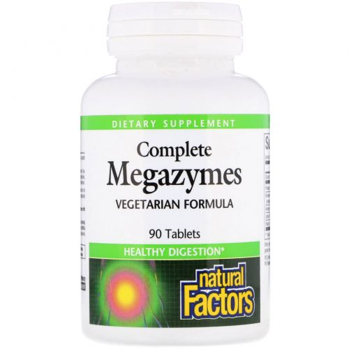 Natural Factors, Complete Megazymes, 90 таблеток