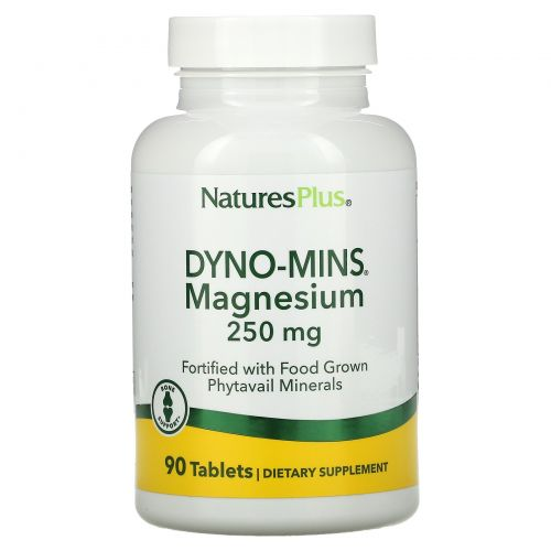 Nature's Plus, Dyno-Mins, Магний, 250 мг, 90 кислотоустойчивых таблеток
