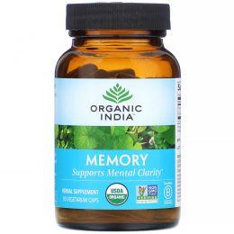 Organic India, Memory, ясность ума, 90 растительных капсул