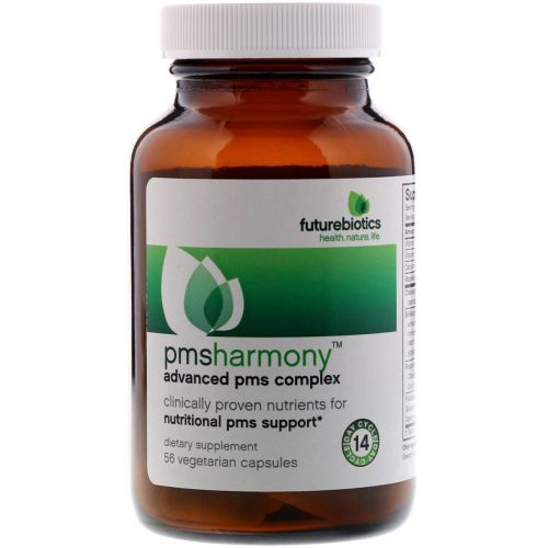 FutureBiotics, PMSHarmony, Advanced PMS Complex, 56 Vegetarian Capsules
