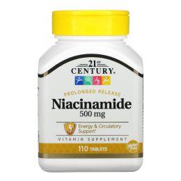 21st Century, Ниацинамид, 500 мг, 110 таблеток