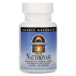 Source Naturals, NSK-SD, наттокиназа, 100 мг, 30 капсул