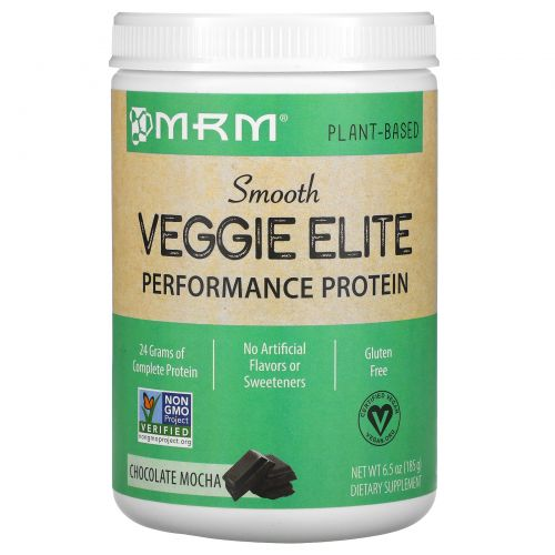 MRM, Smooth Veggie Elite Performance Protein, Chocolate Mocha, 6.5 oz (185 g)
