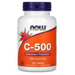 Now Foods, C-500 с шиповником, 250 таблеток
