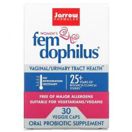 Jarrow Formulas, Fem Dophilus для женщин, 30 вегетарианских капсул