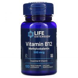 Life Extension, Витамин B-12, 500 мкг, 100 пастилок
