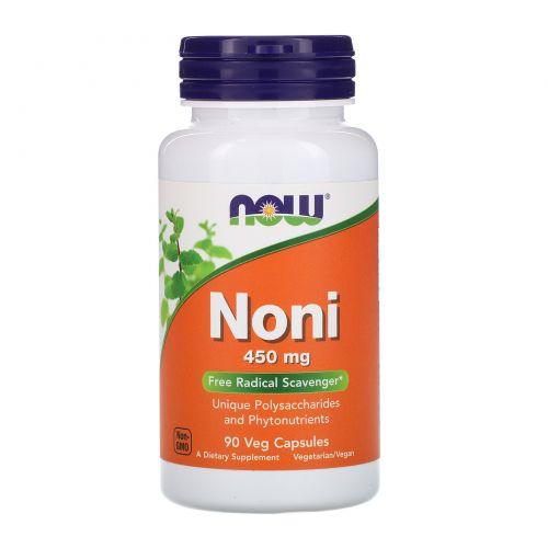 Now Foods, Нони, 450 мг, 90 вегетарианских капсул
