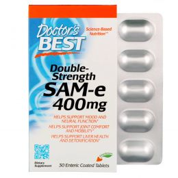 Doctor's Best, Double-Strength SAM-e, 400 mg , 30 Enteric Coated Tablets