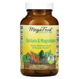MegaFood, Кальций, магний и калий, 90 таблеток