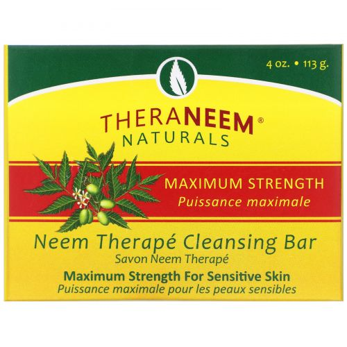 Organix South, TheraNeem Organix, Neem Therapy Cleansing Bar, Maximum Strength, 4 oz (113 g)